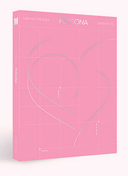 (1 ver) BTS - MAP of The Soul : Persona Album + Folded Posters + Store Gift Photocards