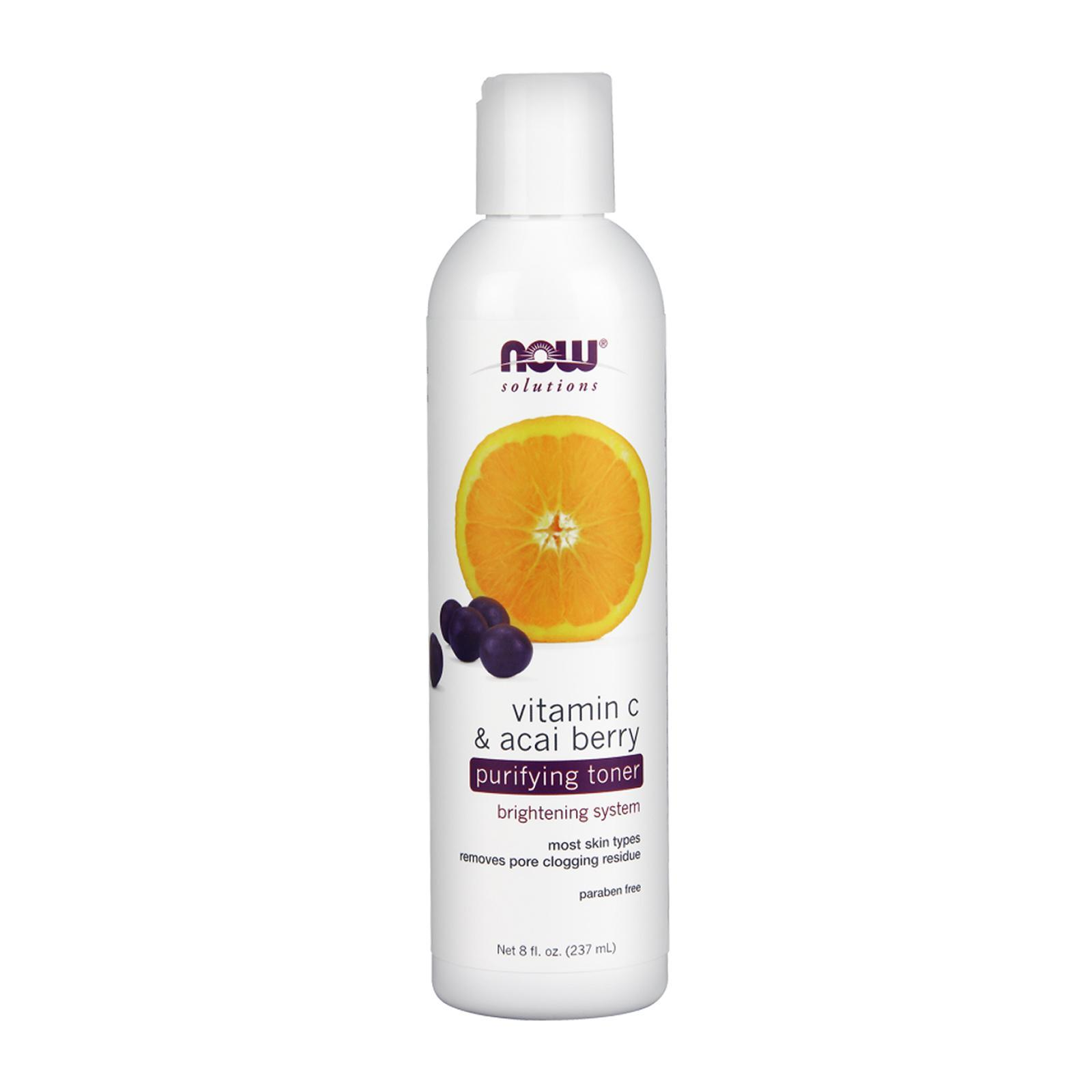 Now Foods Purifying Toner Vitamin C And Acai Berry 8 Fl Oz.