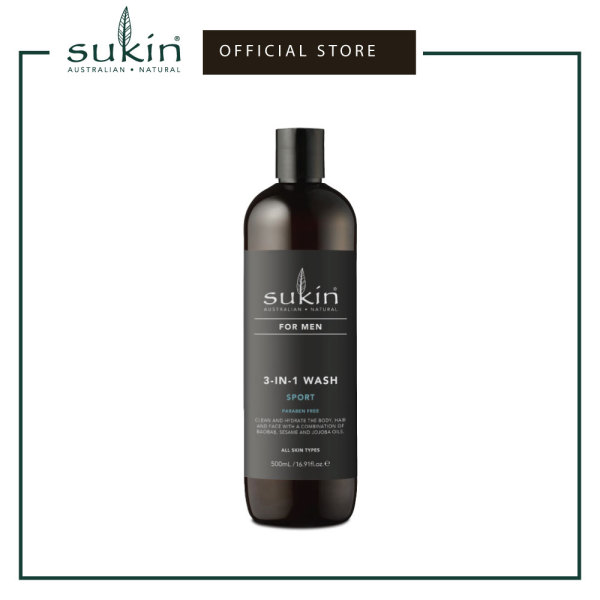 Buy SUKIN 3-IN-1 WASH SPORT| FOR MEN 500ML Singapore