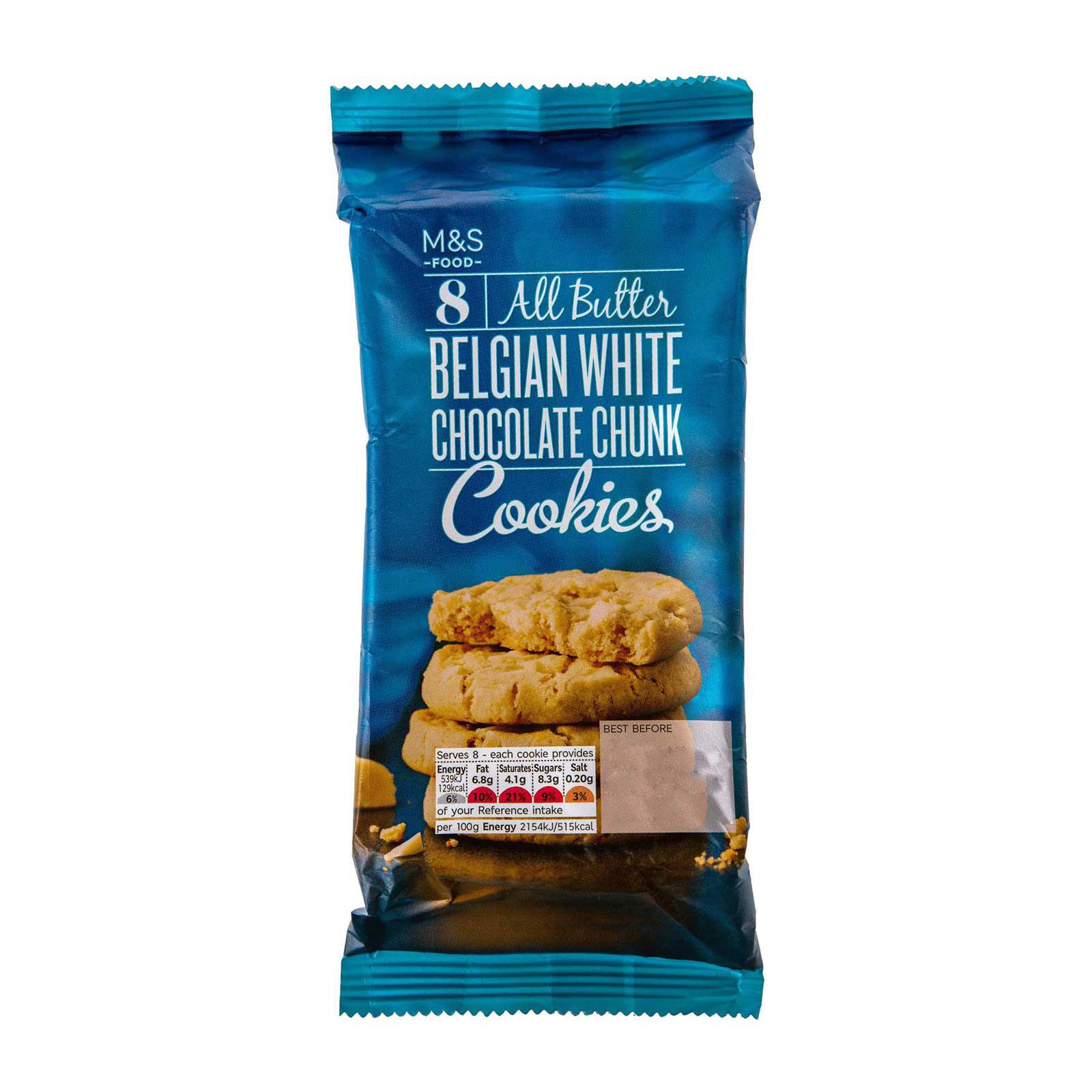 Marks & Spencer All Butter Belgian White Chocolate Chunk Cookies