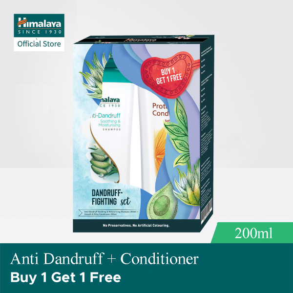 Buy (2x Value Sets) Himalaya 200ml Anti-Dandruff Shampoo + Smooth and Silky Conditioner Singapore