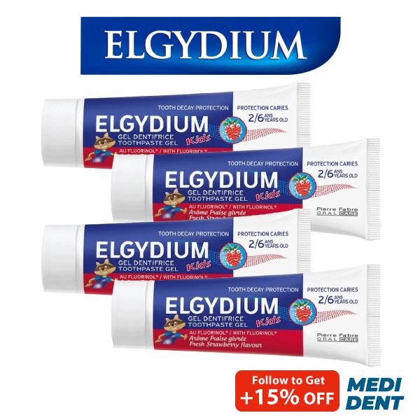Buy ELGYDIUM KIDS TOOTHPASTE FRESH STRAWBERRY 2-6 YRS 50ML [BUNDLE OF 4] Singapore