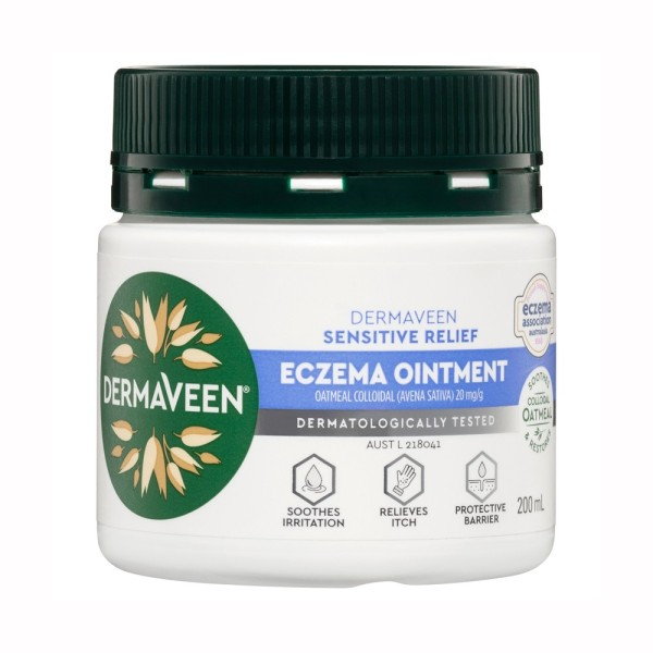Buy Dermaveen Sensitive Relief Eczema Ointment 200ml-  EXP: 09/22 -Vegan friendly. for all skin types including dry, flaky, itchy, cracked skin,  prone to dermatitis or eczema. Singapore