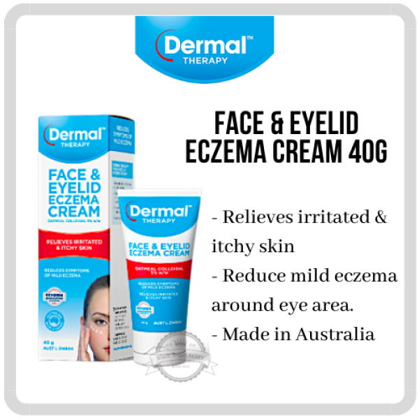 Buy [Dermal Therapy] Face & Eyelid Eczema Cream (Local Seller) Dermatitis Moisturiser Eczema Antiseptic Rash Acne Dermatitis Abrasions soothing emollient Singapore