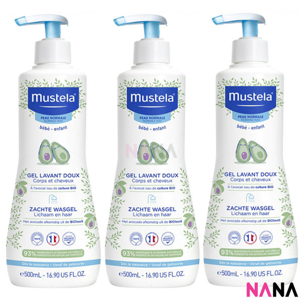 Buy Mustela Gentle Cleansing Gel (Hair and Body Wash) 500ml x 3pcs Singapore