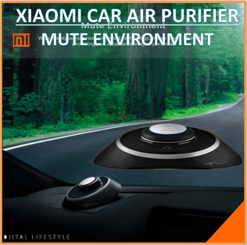Cleanfly M1 Car Anion Air Purifier LED Display Mute Portable Purifier Support Parking Purification USB Singapore