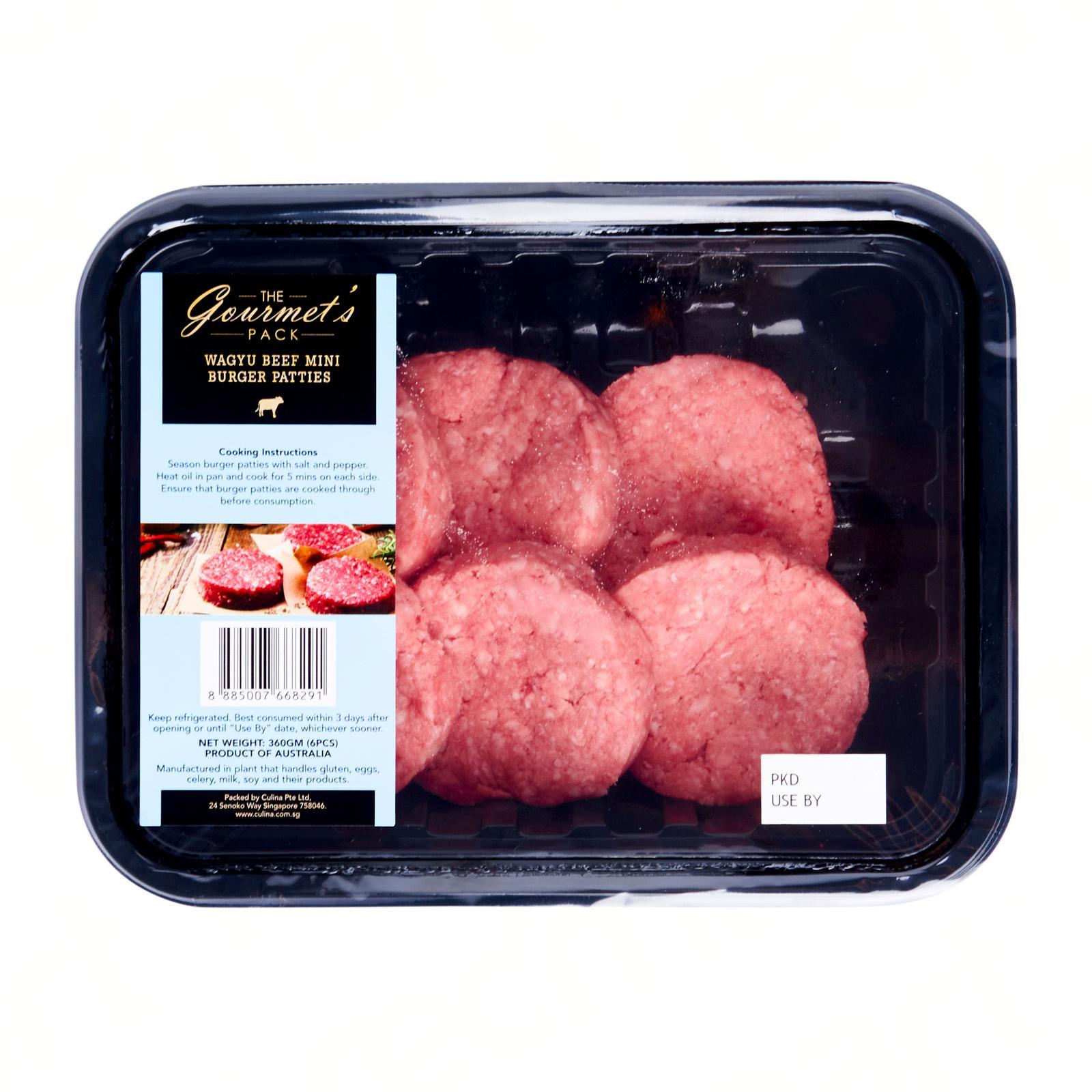 The Gourmet's Pack Wagyu Beef Mini Burger Patties - Australia