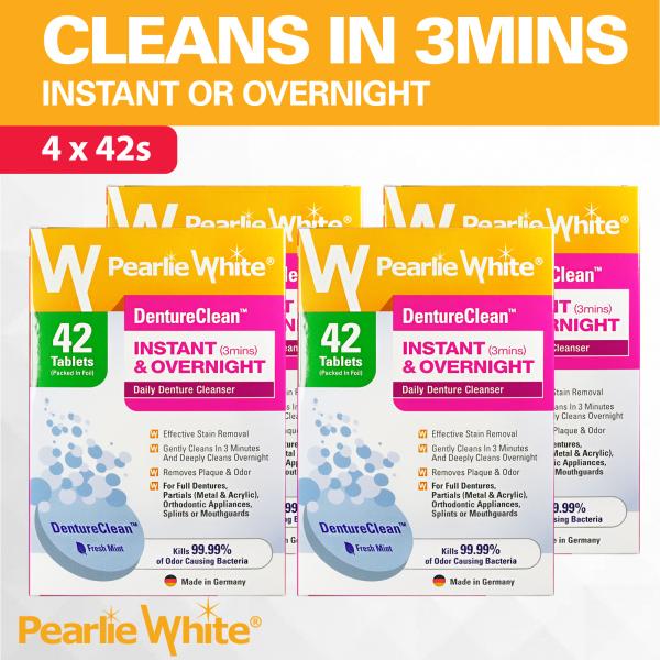Buy [Bundle of 4] Pearlie White DentureClean Denture Cleansing Tablets 42s Singapore