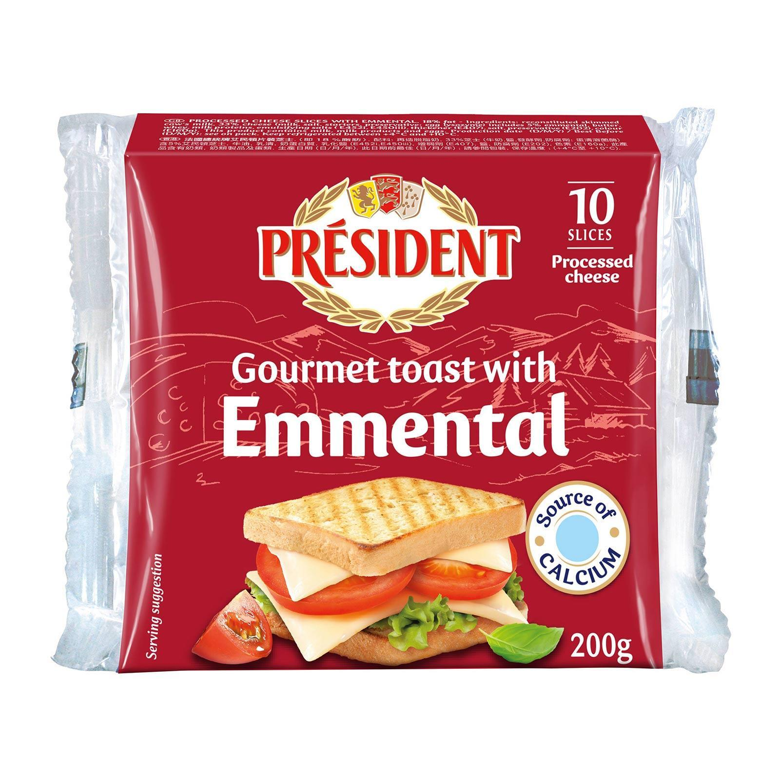 President Emmental Toast Cheese Slices