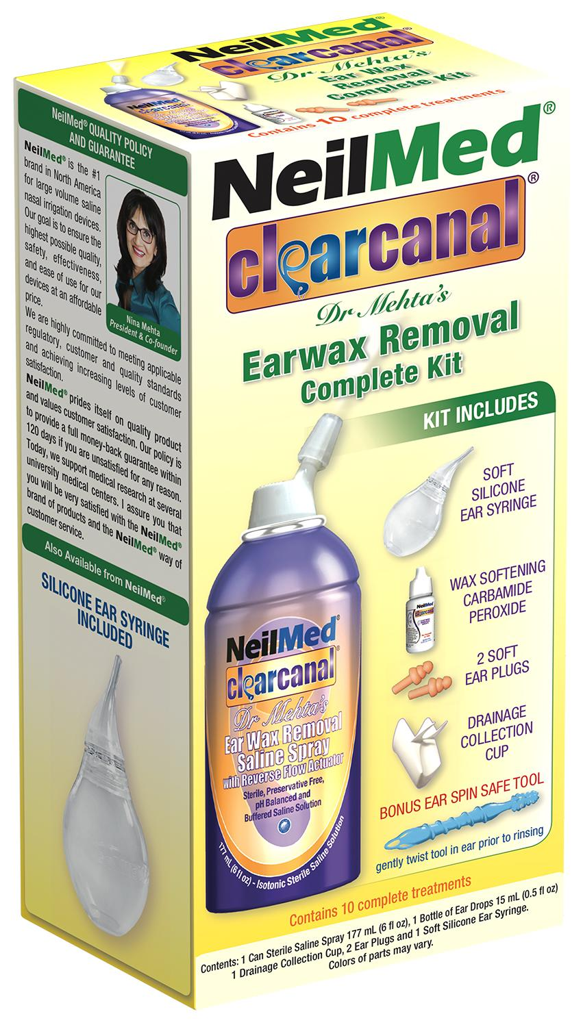 Neilmed Clearcanal Ear Wax Removal Complete Kit (2 Boxes) By Vitamin.sg.