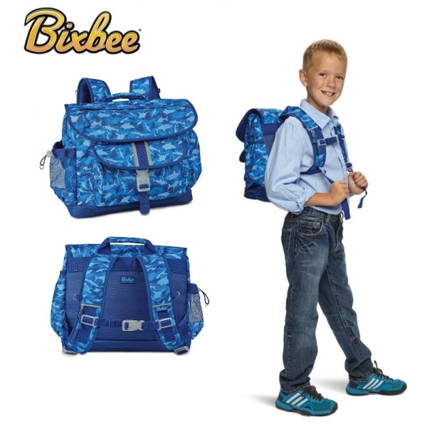 BIXBEE - Shark Camo (Medium/ Large) - USA Patented Lightweight Ergonomic (0.5-0.6kg) Outdoor Backpack / School Bag For Kindergarten Primary Kids