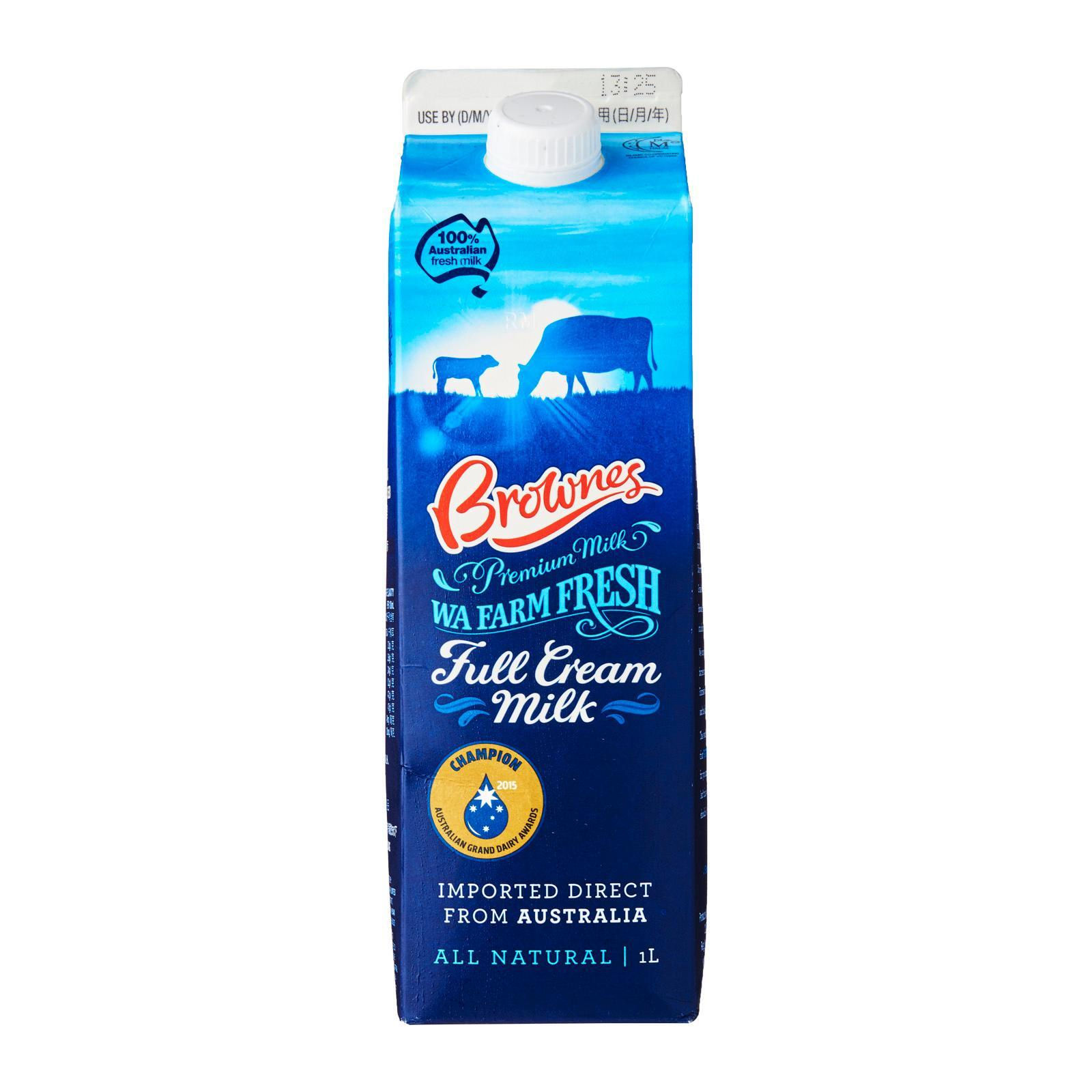 Brownes Fresh Milk By Redmart.