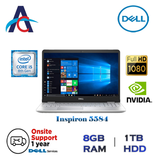 DELL INSPIRON 5584 LAPTOP (Intel Core i5 | 8th Generation | NVIDIA GRAPHICS 2GB)