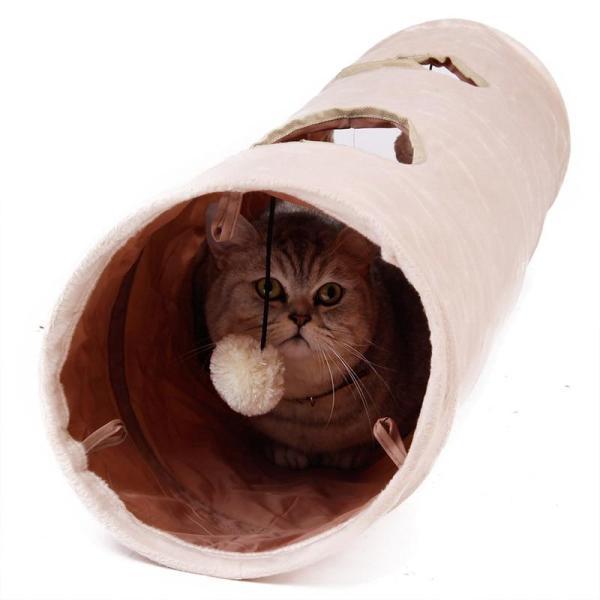 Đường Hầm Thú Cưng Chất Lượng Cao, Đồ Chơi Trêu Ghẹo Thỏ Mèo 2 Lỗ Dài 120Cm Đồ Chơi Trốn Đường Hầm Vui Nhộn Kèm Bóng, Đóng Mở Mèo Đường Hầm