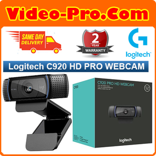 [Free Same Day Delivery*] Logitech Webcam HD Pro C920 960-000770 (*Order before 2pm on Working Day, will Deliver on Same Day, Order After 2pm, will Deliver Next Working Day.)
