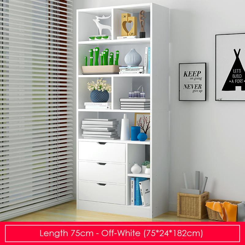 Off-white Modern Storage Display Bookshelf- Length 75cm