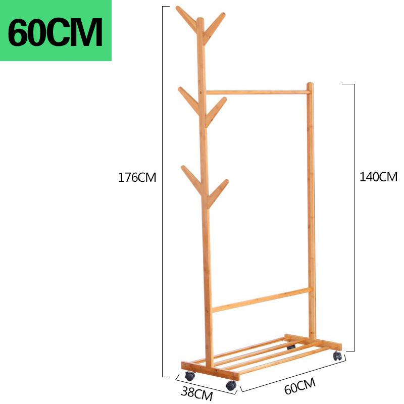 Premium Wooden Coat Rack Free Standing With 8 Hooks Wood Tree Coat Rack Stand For Coats Hats Scarves Clothes