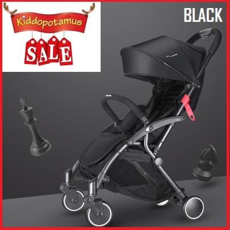 ★Fast Delivery★Kiddopotamus® Ultra Lightweight One Hand Fold Stroller - GREY BLACK Singapore