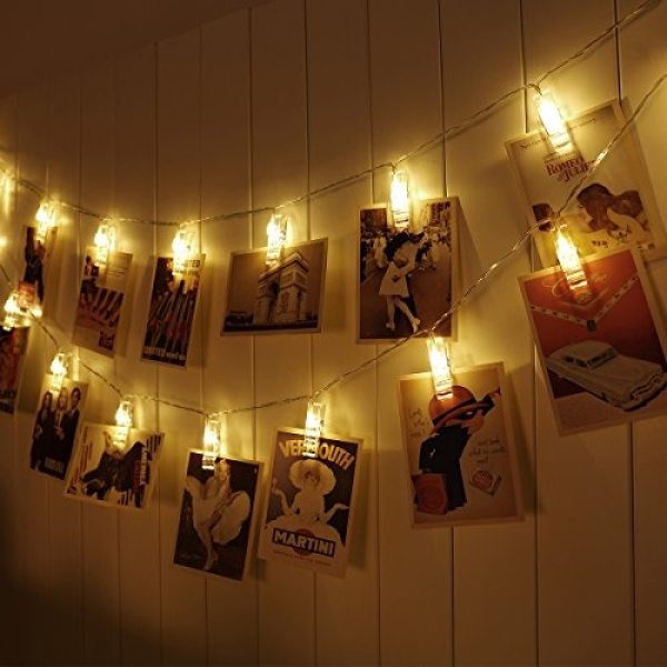 [ Starzdeals ] Battery Operated Photo Clips Outdoor Fairy String Light Home Decoration - Warm White