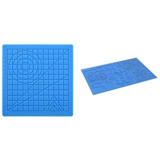 2 Set 3D Printing Pen Silicone Mat Doodle Pad with Finger Caps, 17 X 17 X 0.3cm & 41.5 X 27.5cm thumbnail