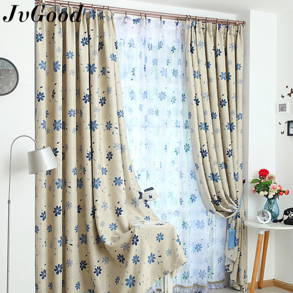 JvGood 1 PC Blackout Curtain Wide Strip Window Shading Screen Bedroom Blind Cloth Decor with Free Hook and Cloth Straps for Home, Hotel, Cafe, Office