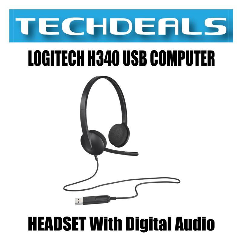 LOGITECH H340 USB COMPUTER HEADSET With Digital Audio Singapore