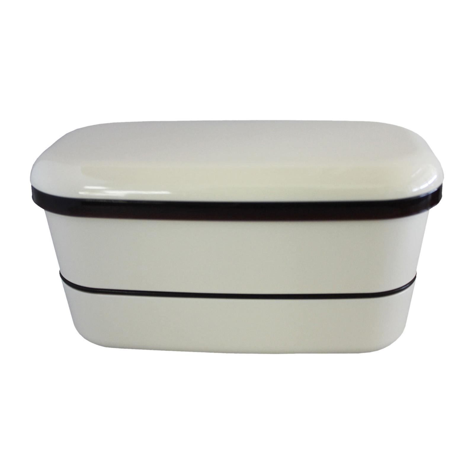 Yamada 2 Tier Lunch Box / Bento Box - Beige