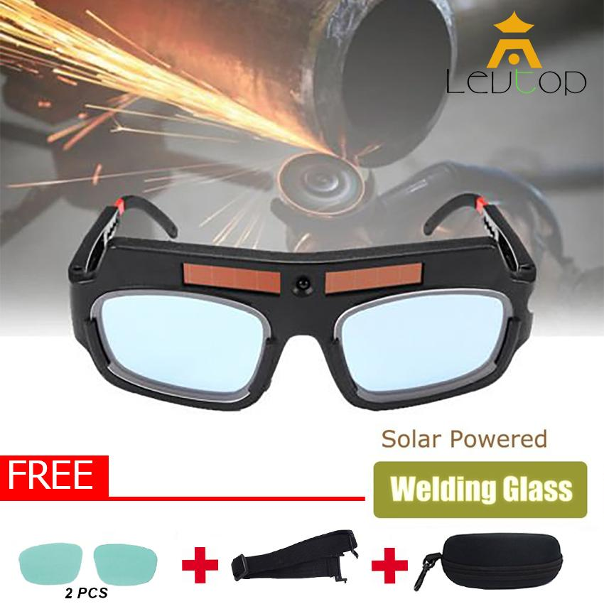 LEVTOP Welding Tools Eyes Protection Welding Goggles Glasses Mask Solar Powered Auto Darkening Welding Eyewear Professional Welder Glasses