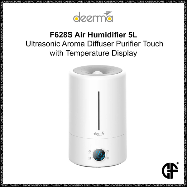 Xiaomi Deerma F628S Air Humidifier 5L Ultrasonic Aroma Diffuser Purifier Touch with Temperature Display Singapore