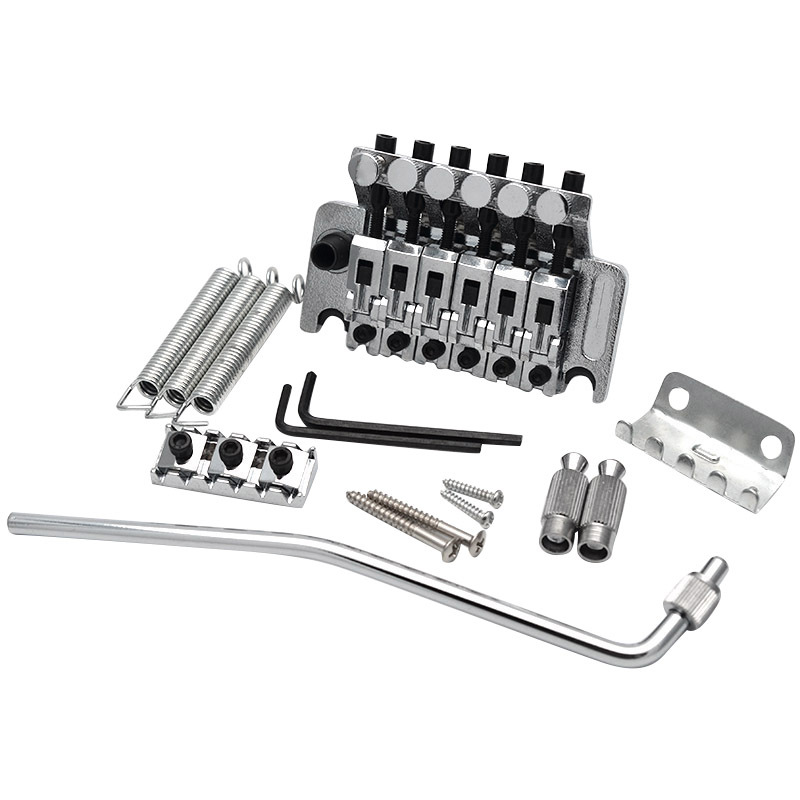 Electric Guitar Tremolo Bridge Systems with Logo Double Locking Edge with Whammy Bar