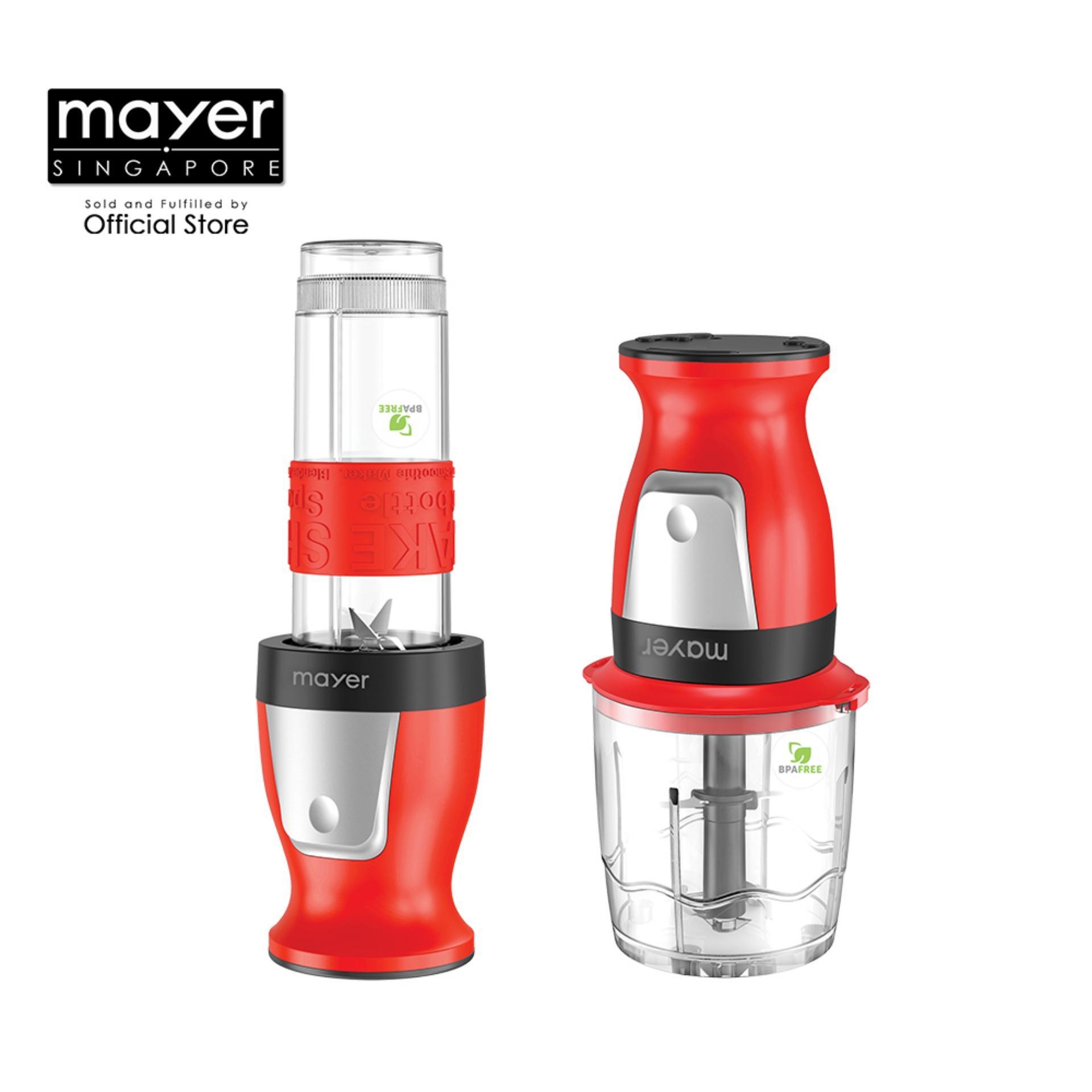 Mayer 2 in 1 Blender and Chopper (MMBC19)/600ml blender/1L chopper