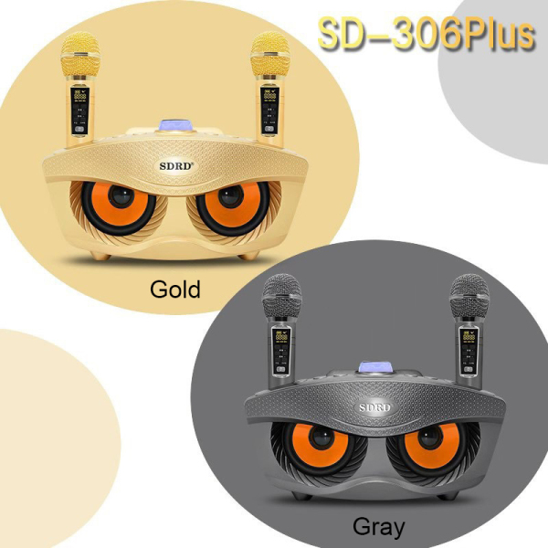 SDRD SD-306 Plus New Upgrade Microphone 2 Way Charging Support Up to 6 Microphones Connection / Come With 2 Wireless Microphones Outdoor Family KTV Stereo / Karaoke Stereo Mic Big Sound 20W / Support Bluetooth & Audio cable connection / Local Warranty Singapore