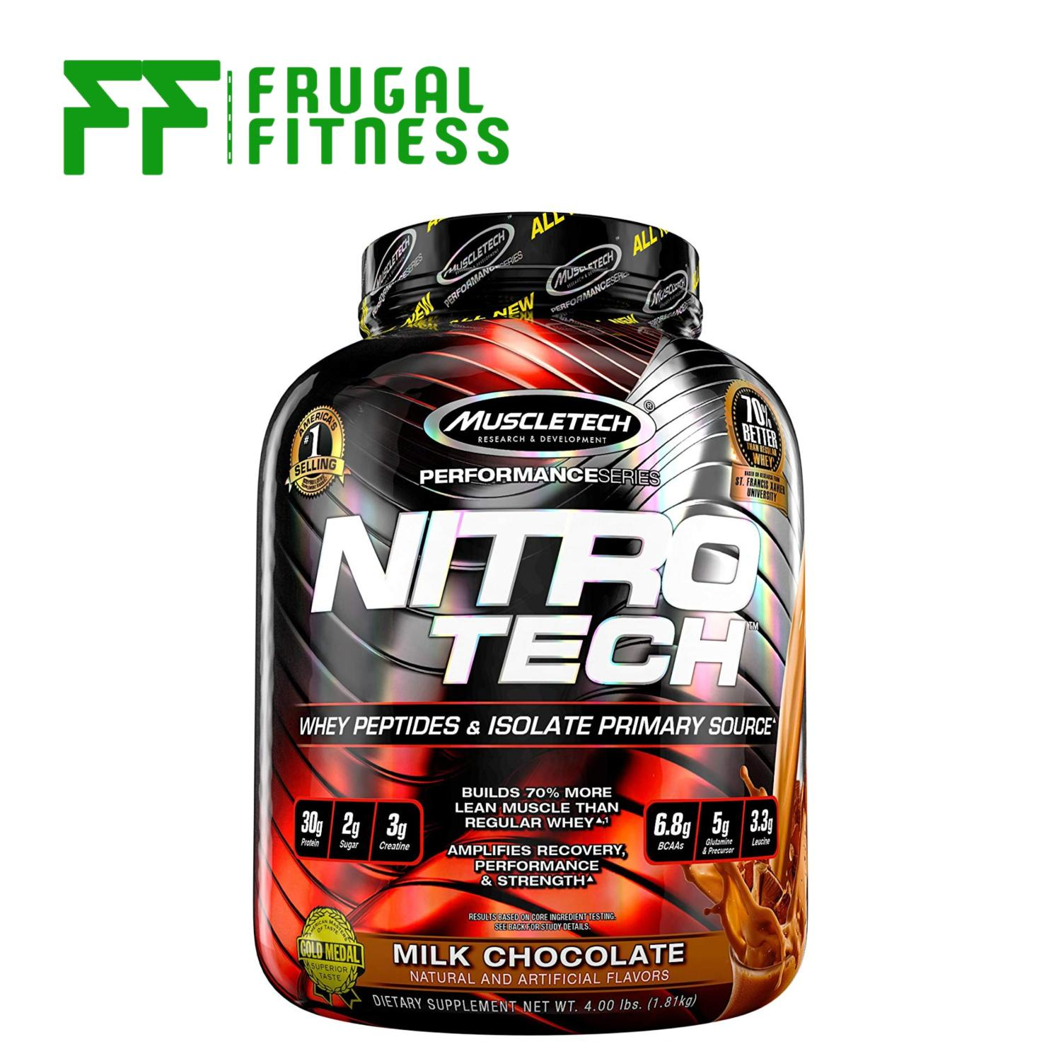 Muscletech Nitrotech Whey Protein 4lbs [various Flavors Available] By Frugal Fitness.