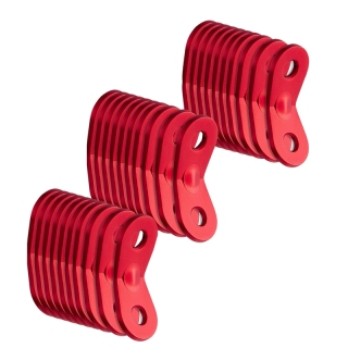 30 Pcs Aluminum Alloy Rope Cord Adjuster,Tent Tensioners Rope Adjuster Tent Rope Adjusters for Outdoor Camping Hiking Tent Accessories, Red thumbnail