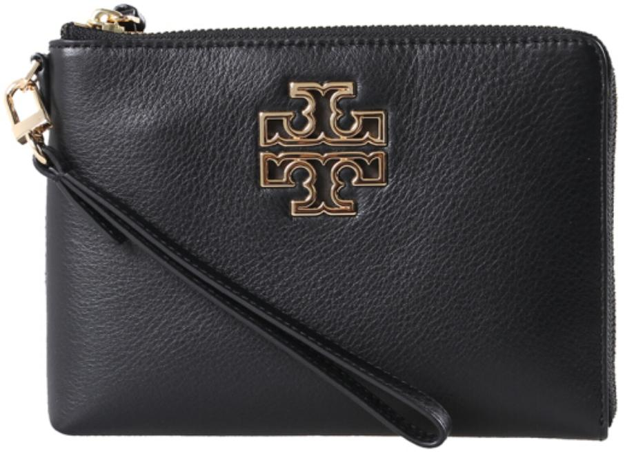 aaec824f2 Tory Burch BRITTEN LARGE ZIP POUCH (BLACK)