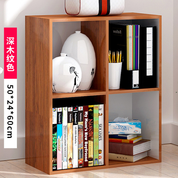 Simple Bookcase Storage Shelf Storage Landing Simple Living Room Childrens Table above Students Little Book Cabinet