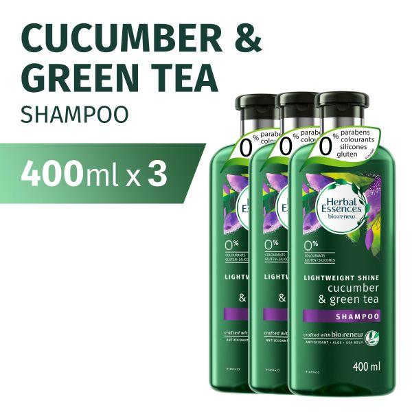 Buy [Bundle of 3] Herbal Essences Renew Cucumber & Green Tea Shampoo 400ml Singapore