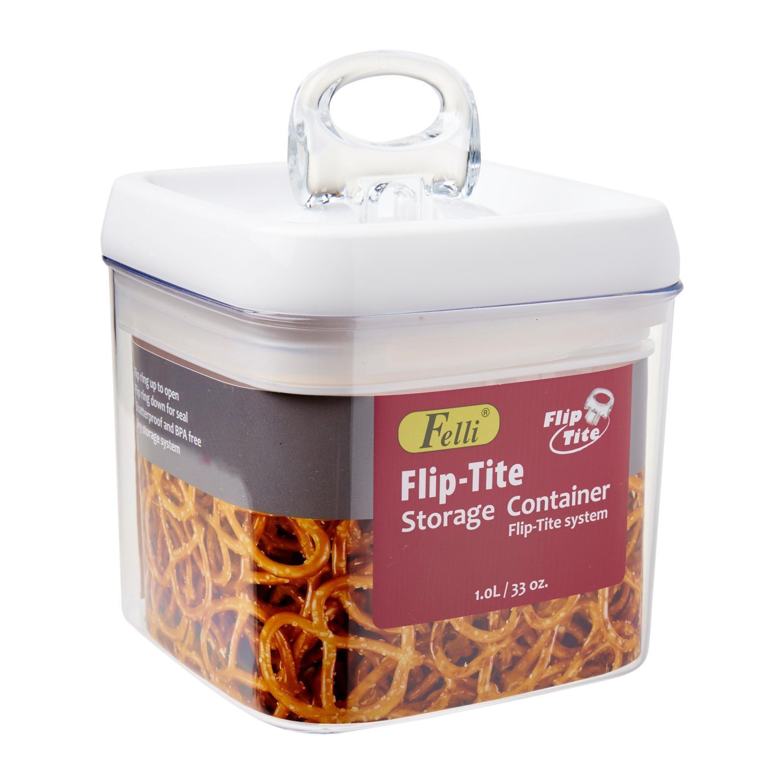 Felli Flip Tite Square Container 1.0L