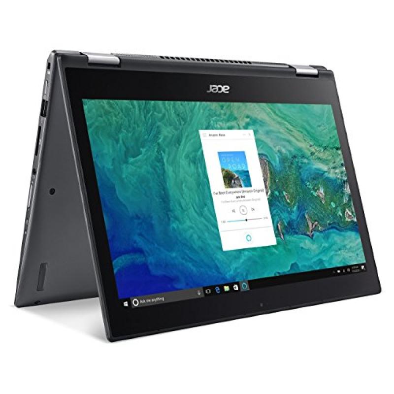 Acer Spin 5 SP513-52N-85LZ, 13.3  Full HD Touch, 8th Gen Intel Core i7-8550U, Alexa Built-in, 8GB DDR4, 256GB SSD, Convertible, Steel Gray