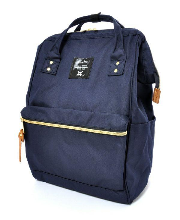 Anello Classic Original Japan Big Capacity Unisex casual Backpack (side pockets and backzip) AT-B0193A