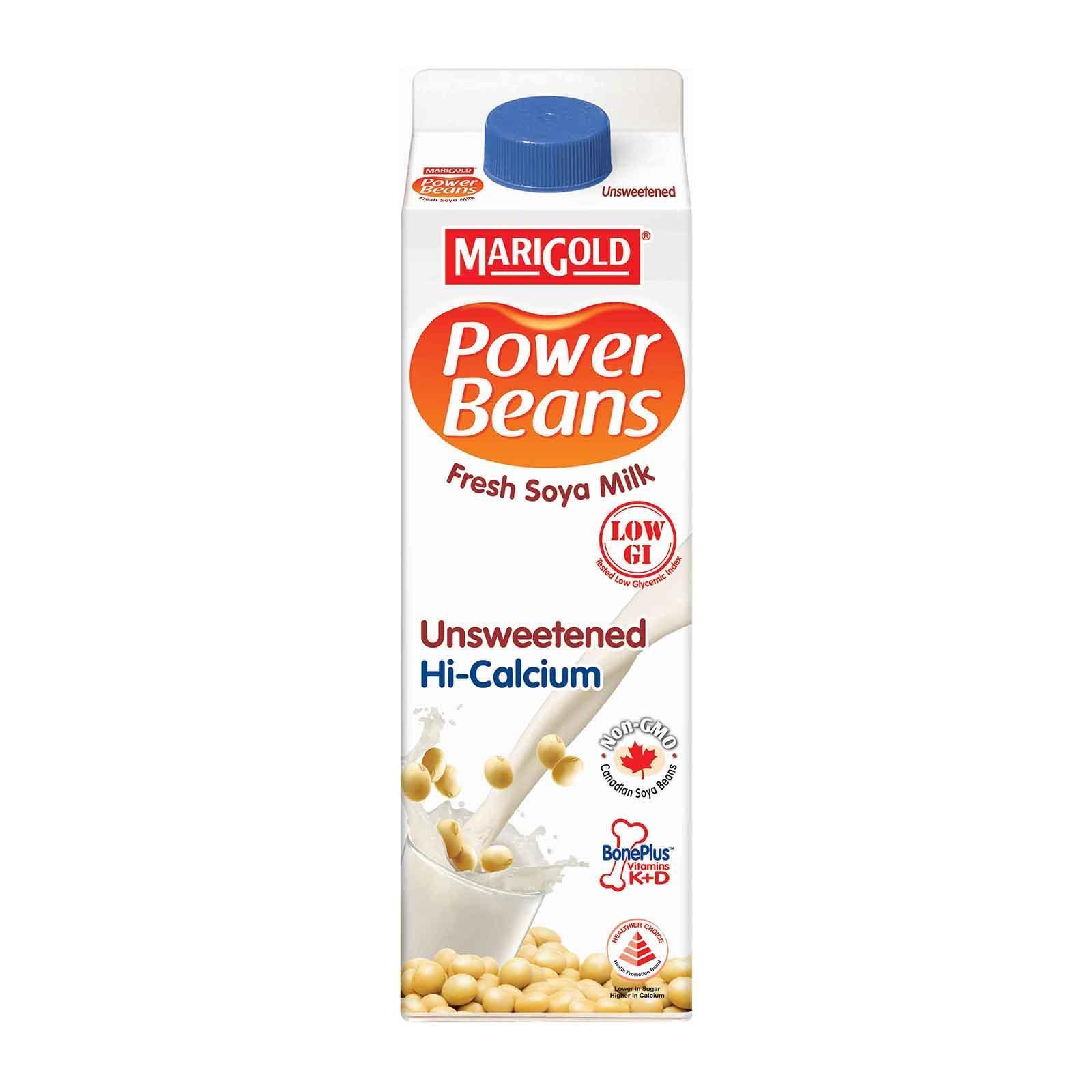 MARIGOLD PowerBeans Fresh Soya Milk - Unsweetened 1L