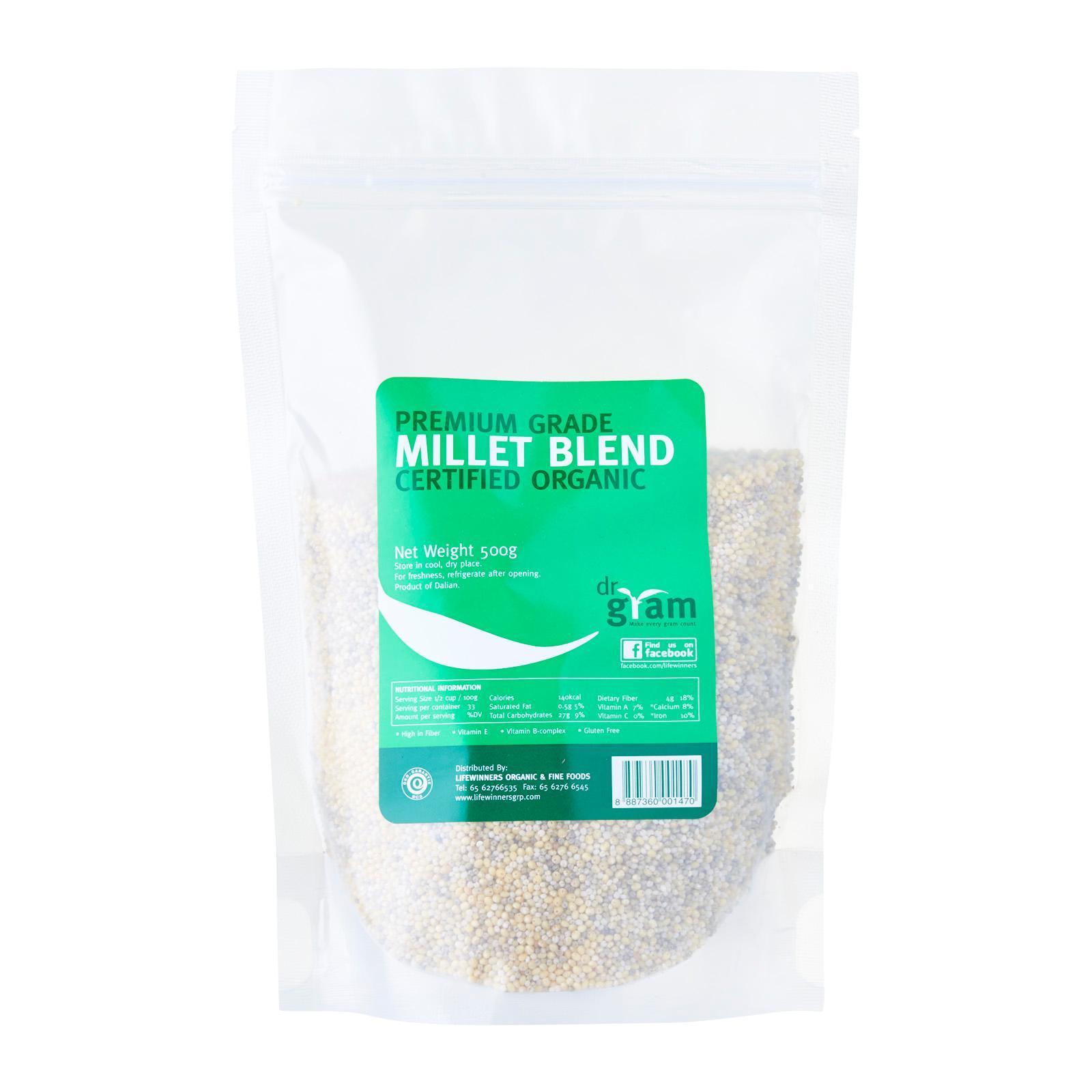 Dr Gram Organic Millet Blend (4 Packets) By Lifewinners Organic & Fine Foods.