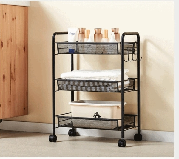 Famous Minimalist Trolley Rack with Handle Bar | Storage organizer For kids kitchen baby home