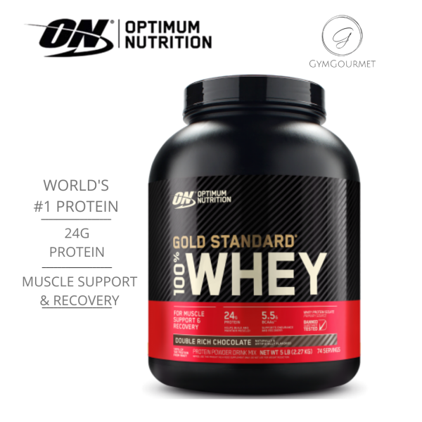 Buy Optimum Nutrition, Gold Standard 100% Whey, 5 lbs (2.27 kg) Assorted Flavours Singapore
