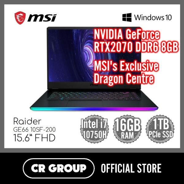 MSI GE66 Raider 10SF-200 15.6 Inch FHD | NVIDIA GeForce RTX2070 GDDR6 8GB | Intel Core™ i7-10750H | 16GB DDR4 RAM | 1TB SSD