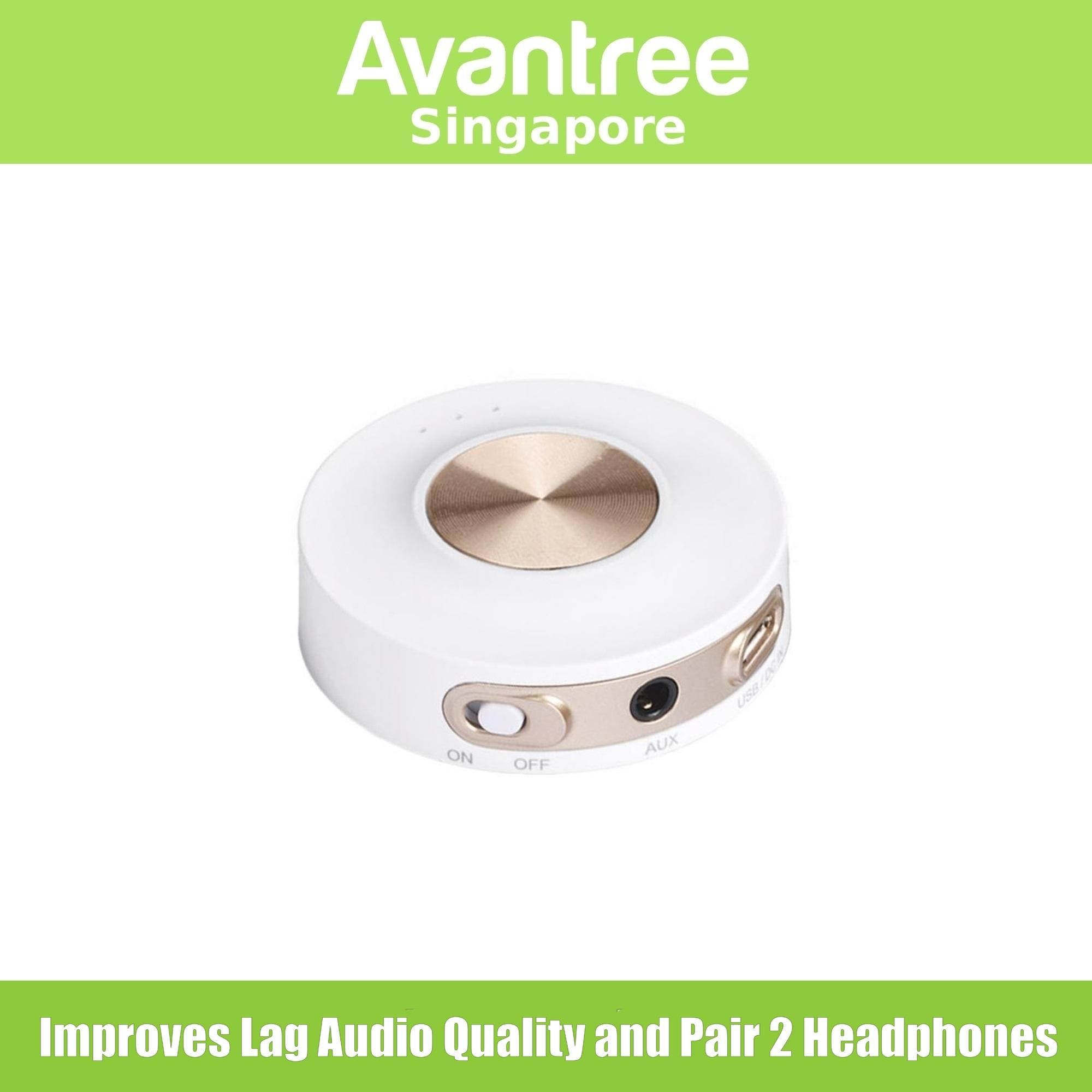 Avantree Wireless Audio Bluetooth Transmitter with aptX Low Latency (Dual  Link) and Built-in Battery for Portable Use (Priva 2A)