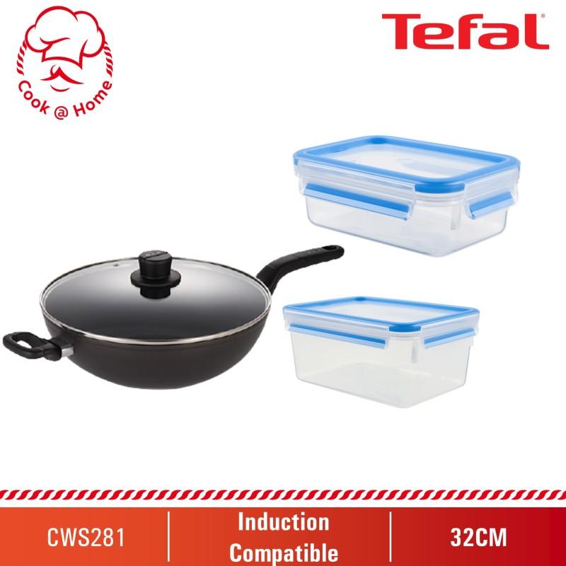 Tefal Intense Cook 32cm WP w/lid & Masterseal 1L & 2.3L (H91494+K30212+K30215) CWS281 Singapore