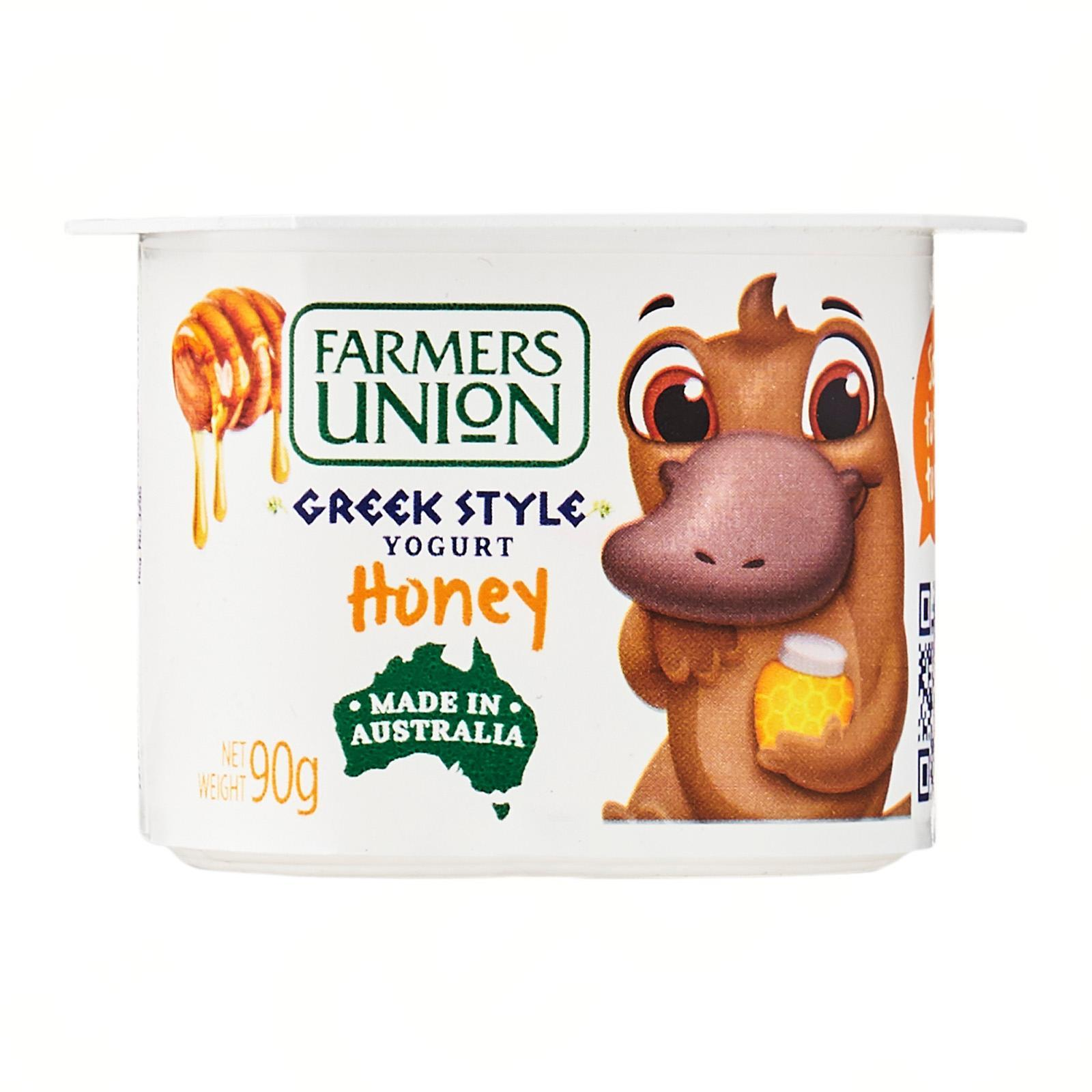 FARMERS UNION Greek Style Yogurt Honey 90g