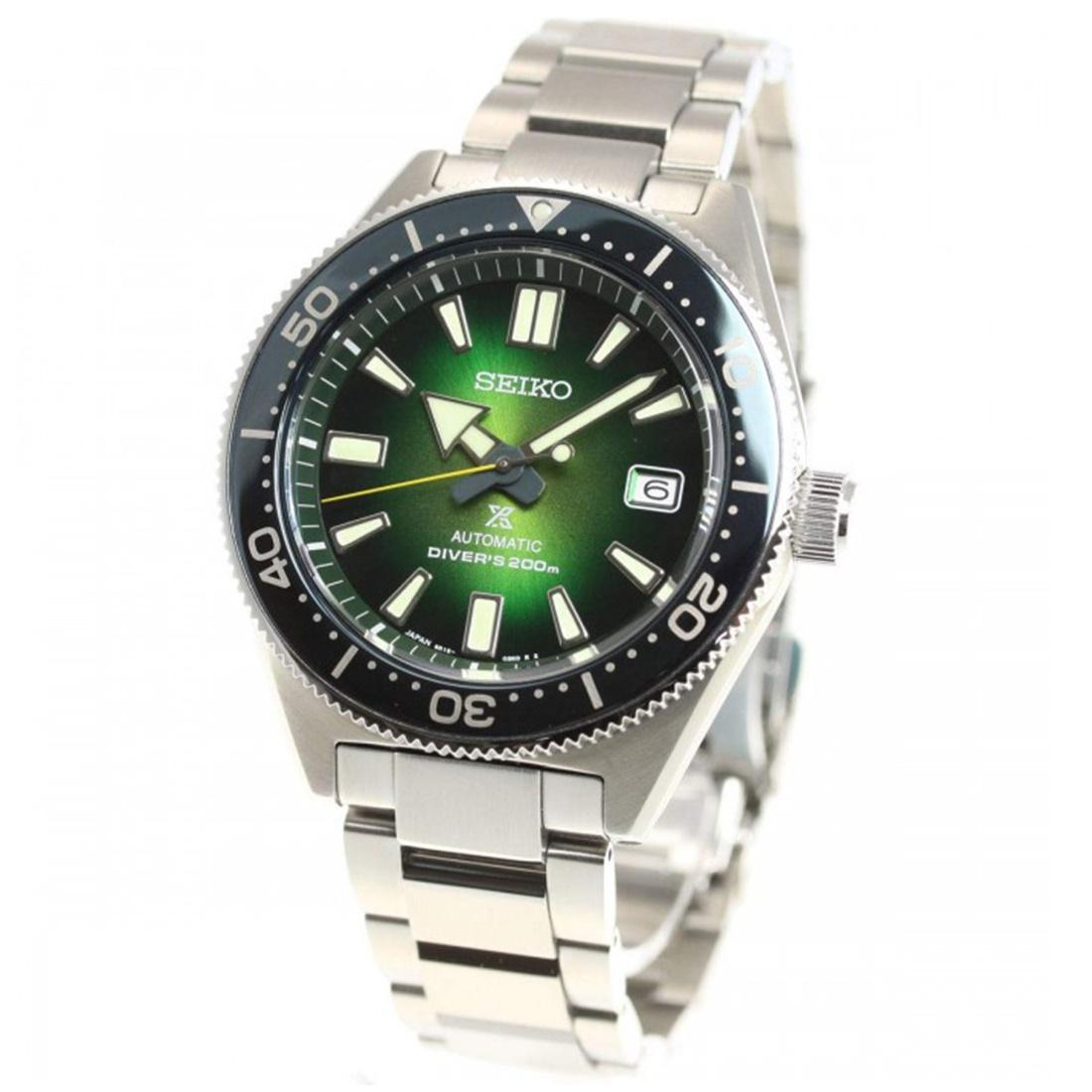 SEIKO PROSPEX AUTOMATIC JDM GREEN DIAL DIVERS SPORTS WATCH SBDC077