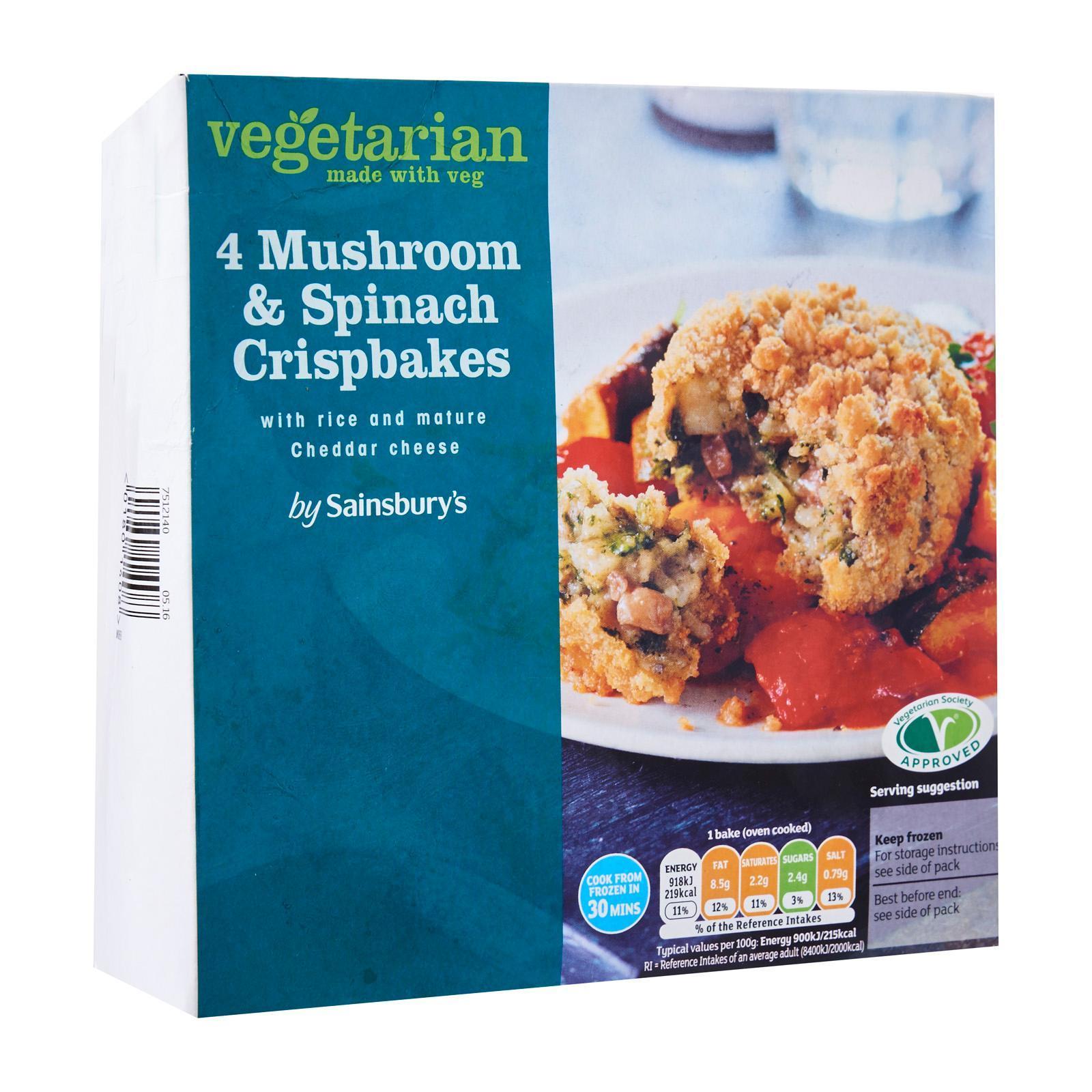 Sainsbury's Cheesey Mushroom And Spinach Crispbake With Rice - Frozen